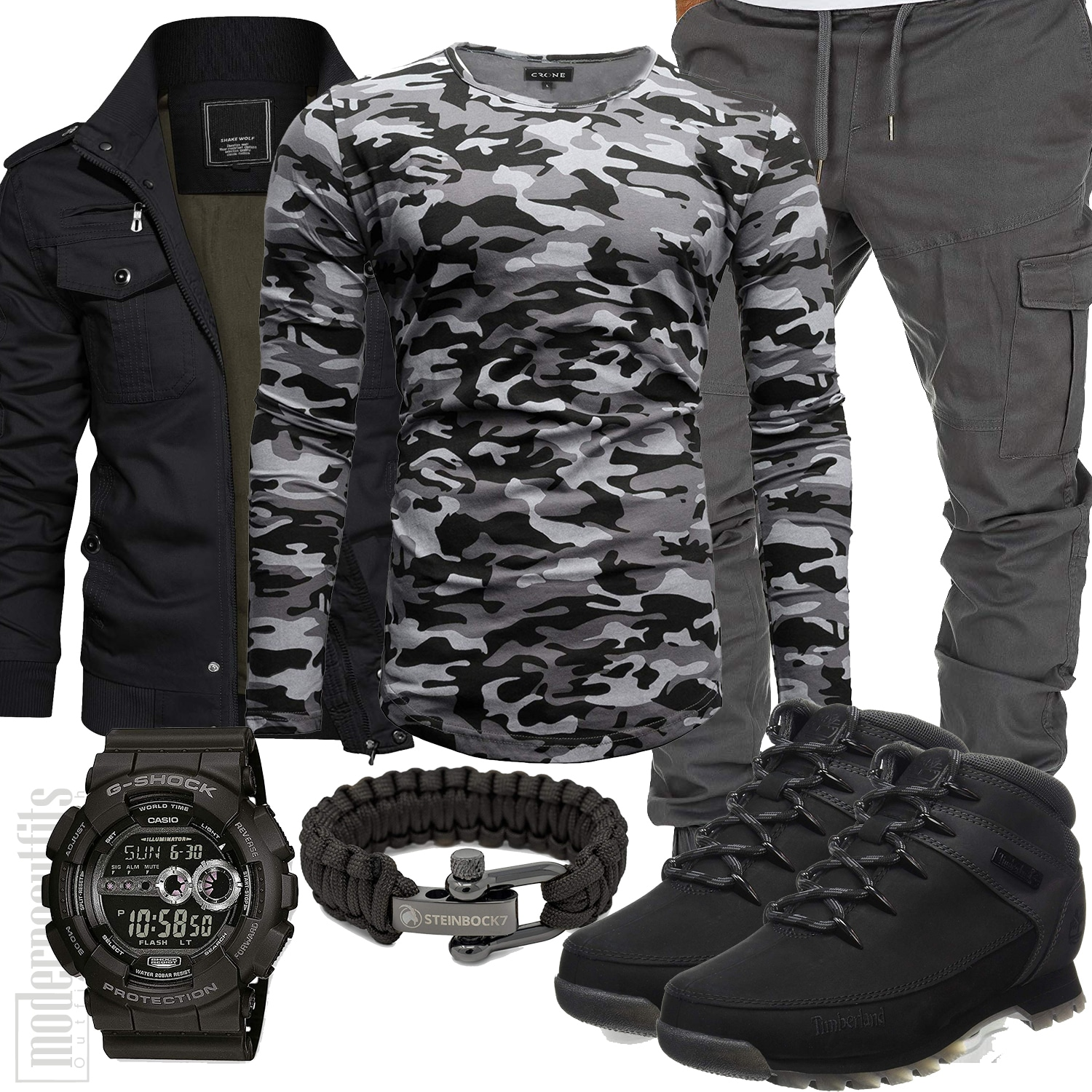 Army Herren Outfit im Military Look