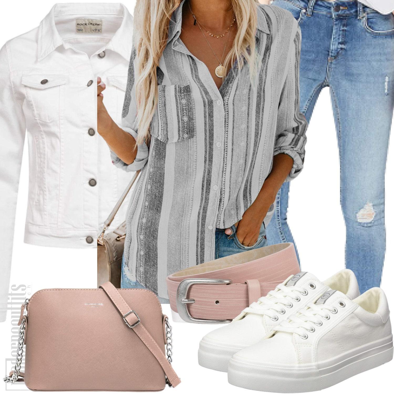 damenoutfit-streifenbluse-jeans-vans