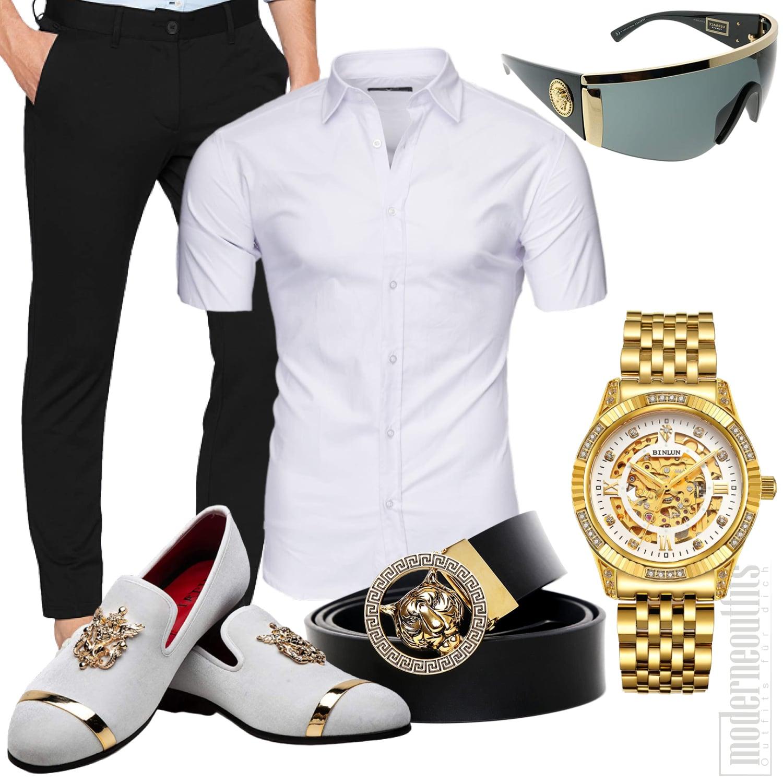 Party Outfit Herren mit Schuhe, Hemd und Hose