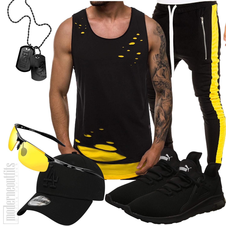 Tank Top Outfit Herren mit Jogginghosen