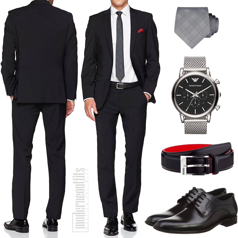 Business Outfit Herren 2020 mit Hemd und Schuhe