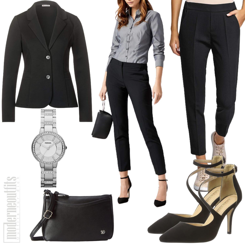 Business Outfit für Damen mit Blazer und Hose